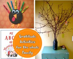 Gratitude Activities for the Family - I love how simple and fun these are!