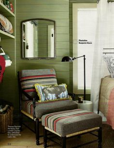 she moves the furniture: Interiors: Cabin or Lodge Style