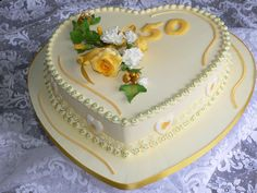 Number Birthday Cakes, 70th Birthday Cake, Heart Cakes, Heart Shaped Cakes, Creative Cake Decorating, Creative Cakes, Cake Icing Tips, Amazing Cakes, Beautiful Cakes