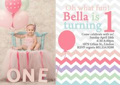 Hey, I found this really awesome Etsy listing at https://www.etsy.com/listing/130810875/adorable-chevron-1st-birthday-invitation