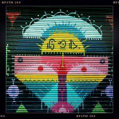 Iron curtain. El Gotico, Barcelona.