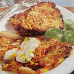 Sauerkraut Potato pancakes! In Germany we are very creative when it comes to…