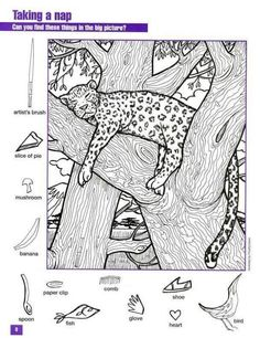 Hidden Pictures Worksheet Tiger was last modified: March 2020 by admin Hidden Object Puzzles, Hidden Picture Puzzles, Hidden Objects, Puzzles For Kids, Activities For Kids, Colouring Pages, Coloring Books, Hidden Pictures Printables, Tiger Images