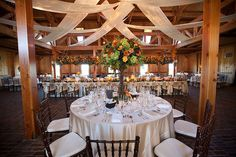Rustic, Yet Elegant Tall Centerpieces | Flickr - Photo Sharing!