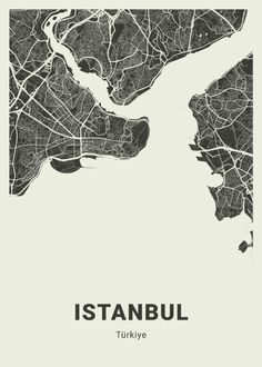 City Map Poster, Poster On, Istanbul Map, City Maps, Me On A Map, Line Art, Bullet, Art Pieces, Landscape