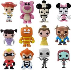 Disney Pop! Action Figure Toys I have the   Mini, Bell and Beast