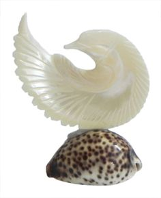 Mother of Pearl Pigeon on Cowrie (Shell)