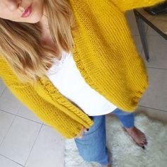 Gilet doudou jaune moutarde – Kesi'Art, le blog !