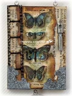 beautiful butterfly tag
