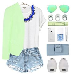 """Lime"" by endimanche ❤ liked on Polyvore featuring Aris Geldis, Helene Berman, Superga, Ray-Ban, Perrin and Fekkai"