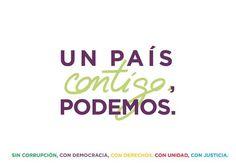 """""""Un país contigo, con los abuelos con los nietos, que no deje a nadie atrás"""" @Pablo_Iglesias_ #PabloIglesiasAR #20D"""
