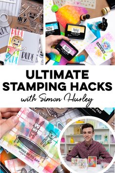 🙌 Check out these life-changing stamping hacks from Simon Hurley of Inklipse! This online class is completely FREE! Travel Stamp, Tim Holtz Distress Ink, Ranger Ink, Distress Oxide Ink, Stenciling, Ink Pads, Stamping Up, Craft Stick Crafts, Life Changing