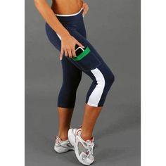 Wholesale Active Elastic Waist Color Block Pocket Design Women's Yoga Pants Only $4.78 Drop Shipping | TrendsGal.com