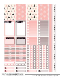 Almost Christmas Free Printable Planner stickers for the classic size Happy Planner.  Includes 2 full pages of planner stickers.