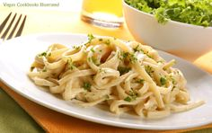 Linguine with Artichoke and White Bean Alfredo from the cookbook Quick-Fix Vegan