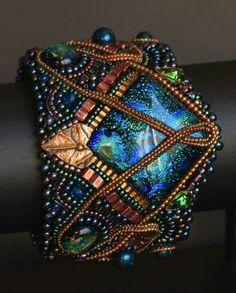 Beautiful Bead Embroidery Bracelet