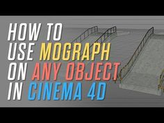 How To Use Mograph On ANY Object In Cinema 4D - YouTube