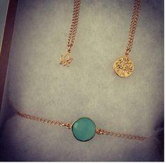 Micro lotus,mini tree of life necklaces & dainty bracelet