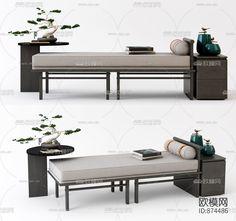 新中式实木脚榻3d模型-免费3dmax模型库-欧模网 Entryway Bench, Dining Bench, China Style, Interior, Chinese, Furniture, Home Decor, Juice, Homemade Home Decor