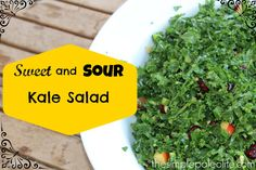 This sweet and sour kale salad recipe is anything but boring. Get the recipe and find out how great kale can taste!