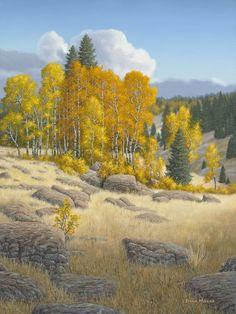 """""""Cimarron Ranch""""; Artist Doug Miller; 25""""w x 31""""h - framed; Oil on Linen; Available at Filsinger Gallery - Palm Desert, CA www.filsingergallery.com"""