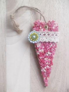 A Spoonful of Crafts: Sukkerhjerter - HJERTE / Sugar Hearts HEART