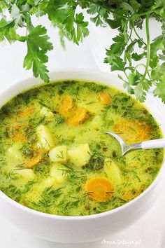 Soup Recipes, Dinner Recipes, Cooking Recipes, Healthy Dishes, Healthy Recipes, Polish Recipes, I Foods, Love Food, Food Photography