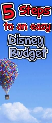 5 Steps to a Quick and Easy Disney Budget #Disneytips