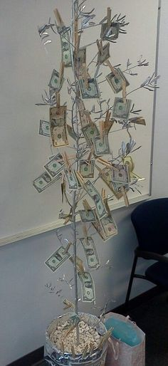 Money tree for birthday, retirement and weddings. Always a big hit.