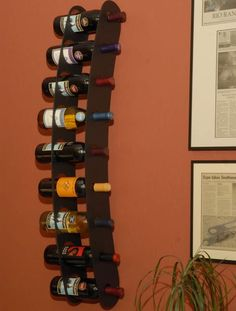 7 Bottle Wall Mounted Wine Rack