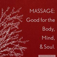 Massage = good