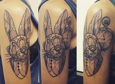 Bunny Tattoo by Arxe #tatouage #lyon #ink #polygon #minimalist #animal
