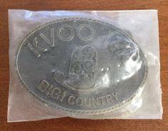 Vintage KVOO Big Country AM 1170 Brass Belt Buckle New In Package Tulsa  | eBay