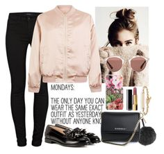 """""""Sunday's look"""" by samsinjsh ❤ liked on Polyvore featuring J Brand, Fendi, Cameo Rose, Givenchy, Gucci, Tod's, Christian Dior, Chanel and Hoorsenbuhs"""