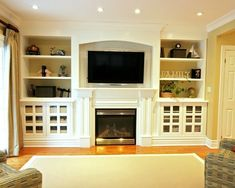 Tv Above Fireplace Design, Pictures, Remodel, Decor and Ideas - page 2  I need to know where they put the cable boxes!! by dolores