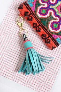MY DIY | Leather Tassel Keychain