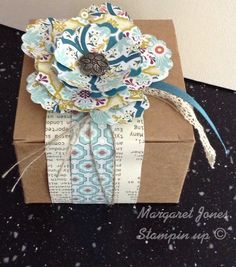 Gift box using Stampin up Kraft boxes