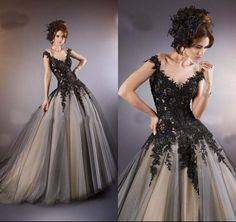 Schwarz Hochzeitskleid Brautkleid Abendkleid Ballkleid Brautjungfer Prom Dress | eBay