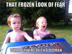 That frozen look of fear