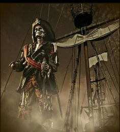 "So, it seems that Pirates of Caribbean 5 title will be ""Dead Men Tell no Tales"", which seems appropriate for a POTC movie, isn't it? The Pirates, Pirates Cove, Pirates Of The Caribbean, Pirate Art, Pirate Skull, Pirate Life, Pirate Ships, Pirate Woman, Bateau Pirate"