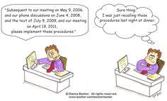 Cartoon #8 http://booher.com/booherbanter/ #cartoon #business #communication