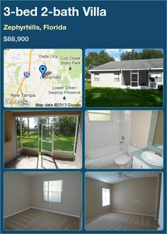 3-bed 2-bath Villa in Zephyrhills, Florida ►$88,900 #PropertyForSale #RealEstate #Florida http://florida-magic.com/properties/6023-villa-for-sale-in-zephyrhills-florida-with-3-bedroom-2-bathroom