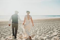 Claire Pettibone beach wedding | Image by Thuriane Photography  #beachwedding #wedding #beach #coast #sand #sea #ocean #bride #groom #realwedding #france #frenchwedding