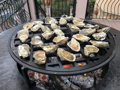 Wood Fired Oysters couldn't be tastier then when they are grilled over an open flame using the OFYR grill then topped with Chipotle Adobo Butter. Grilled Oysters, Open Fires, Firewood, Seafood, Bbq, Cooking, Outdoor Decor, Images, Crafts