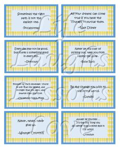 Printable Lunch Box Notes Quotes Enough by LifeLaughsLessonsLuv