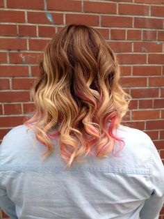 Ombré with pink- Hair by Angie www.honeysalonsacto.com