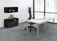"Mayline 60"" e5 Writing Desk with Hutch and File Cabinet e5K4 #Mayline #e5 #ComputerDesk"