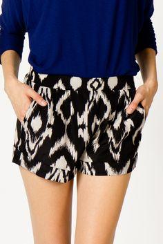 Tribal Print Shorts | a-thread