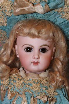 "French Antique E. 5 J. Jumeau Bebe 1880's 15"" tall, sweet face, almond eye cuts!"