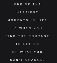 Let it go and healing begins.  Want to put this one up in my office.  So true.